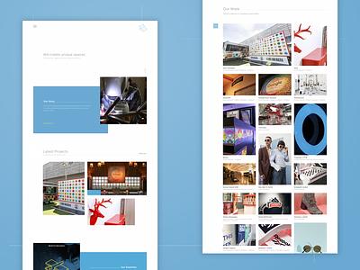 Fort Productions flat design digital design web development css html ux ui web design