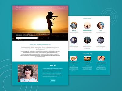 Blossom Hypnotherapy flat design digital design web development css html ux ui web design