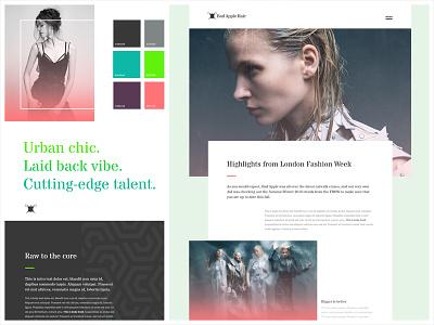 Bad Apple Style Tile style tile design web branding ui