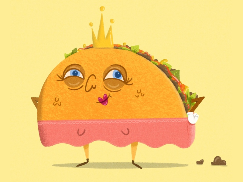 Taco Princess princess crown meat taco