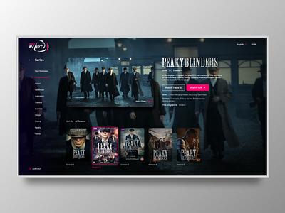 Streaming App [AV-IPTV-PRO] user interface design tv series iptv clean design uiux tv app streaming app uidesign