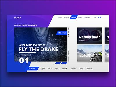 Landing Page 2018 e-commerce tires concept 2018 page landing