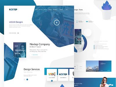 Design Services Page company ux ui website nextep page services design