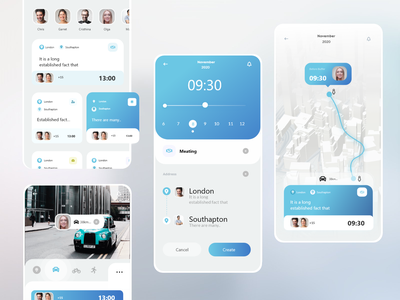 Appointments_Calendar mobile app appointment map uidesign calendar app user experience user interface ui ux design