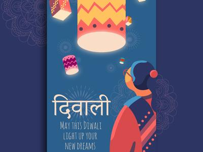 Diwali Festival freelance design art graphic design graphic blue poster collection poster art poster branding illustration indian india diwali