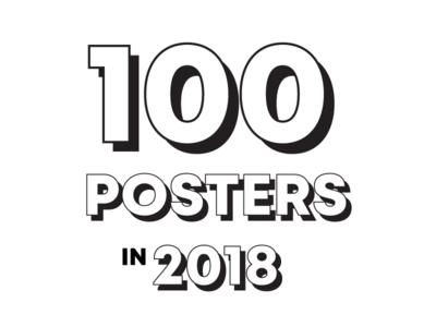 100 posters in 2018