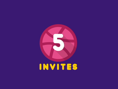 5 x  Dribbble Invites Giveaway