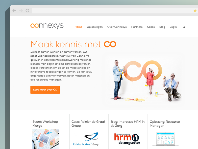 Connexys Website content first mobile first redesign responsive