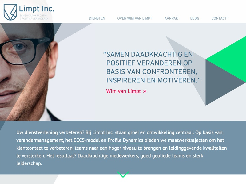 Limpt Inc. one page website responsive parallax big photos smooth scrolling