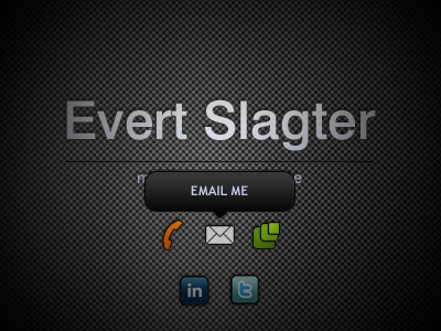 Ever Slagter ui business-card website coming soon