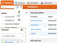 Dashboard, search domain