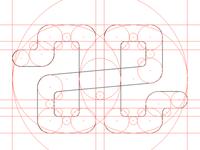 AE Logo Concept, Fibonacci series