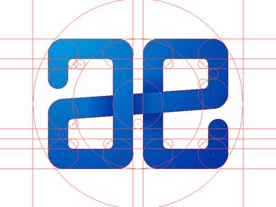 AE Logo Concept 2 - WIP golden ratio logo fibonacci wip