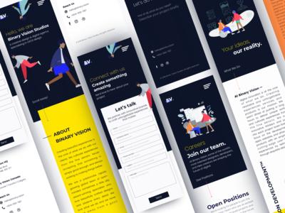 Binary Vision New Website Design