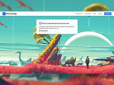 No Mans Sky - 404 Page website 404 page web design no mans sky