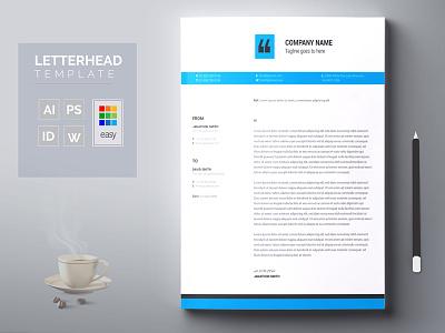 Letterhead cover business card graphic design clean corporate a4 letterhead template letterhead design letterheads letterhead