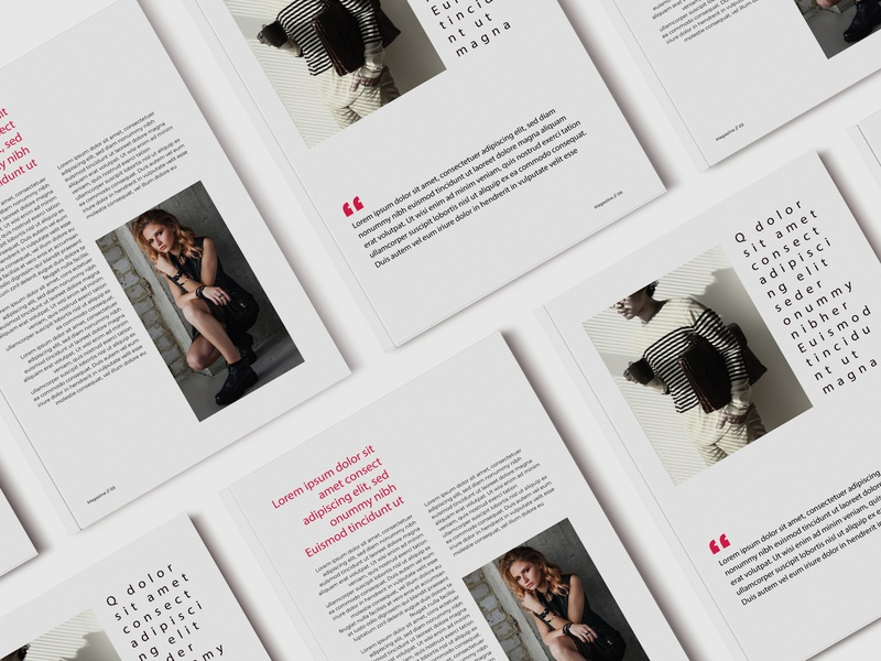 Magazine flyer corporate brochure clean graphic design agency magazine cover fashoin newsletter magazine design magazine ad