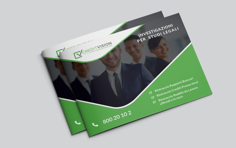 A4 Landscape Brochure ui business resume blue business card a4 company clean flyer brochure graphic design agency corporate graphic brochure layout brochure design a4 landscape brochure