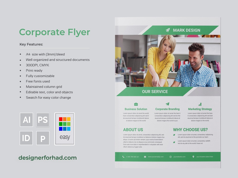 Flyer brochure corporate clean graphic design agency business brochure brochure design brochure-template corporate-flyer-design flyer-design flyer