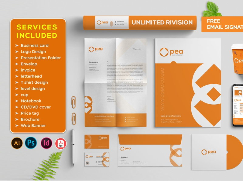 Brand Identity Stationary branding design social branding cover cd cover presentation slip brand identity stationery design stationery design blue coverletter business card logo clean corporate graphic design agency branding