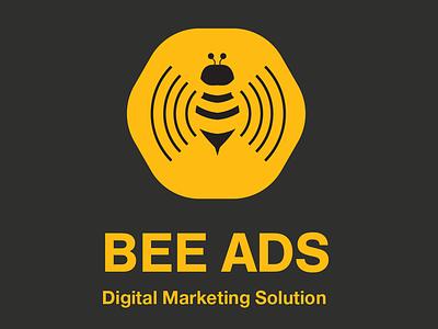 BEE ADS typography branding design logo illustration