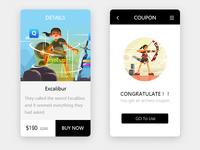 Illustrations of alone series in UI design 2