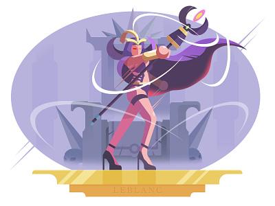 League of Legends - leblanc purple magic leblanc league of legends lol ygg illustration