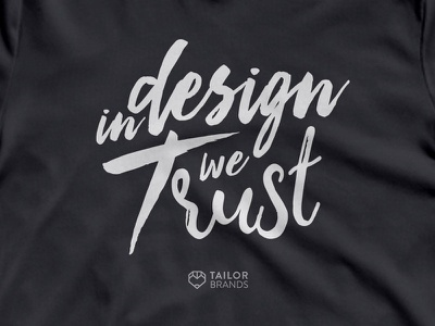 Tailor Brands Swag type trust shirt swag lettering branding typography design