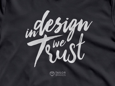 Tailor Brands Swag type trust shirt swag lettering branding typography design