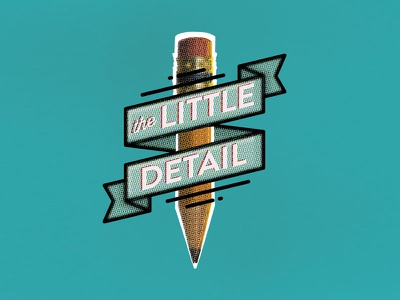 The Little Detail create pencil detail little grunge lettering type typography design branding