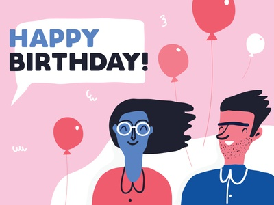 Tailor Brands Birthday Card pink blue red brands tailor balloons card birthday happy