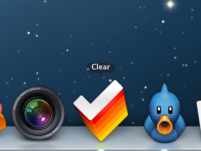Clear icon in the Dock clear icon mac dock tick todo lists gtd