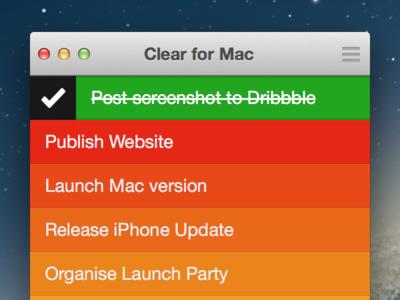 Clear for Mac UI