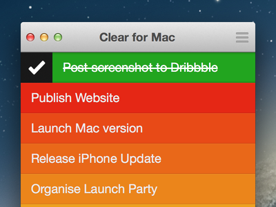 Clear for Mac UI todo clear icon mac gtd lists task ui gestures app realmac software