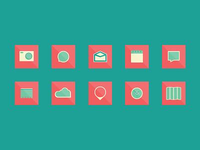 Flat Design icons flat design minimalist