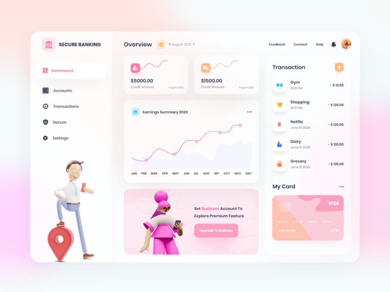 Banking Trend boosted announcement community deal dribbble fresh ui shots new web design