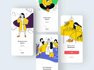 Onboarding Screen illustration mobile app design app uidesign ui onboarding onboarding screen