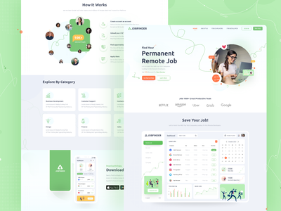 Jobfinder job board jobs design ui web recruitment job job finder