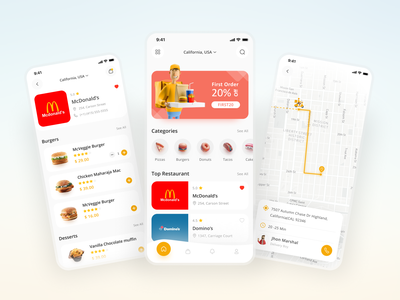 Online Food Ordering App app ui restaurant booking mobile app design food app app ordering food online