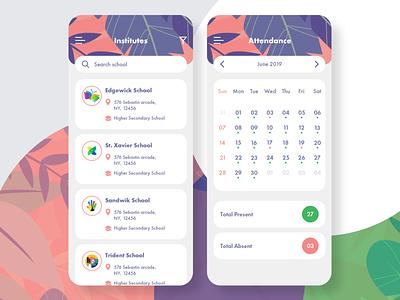 School App design app institutes books education school learning school app