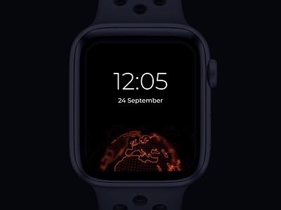 Watch Os globe animation location watch os time map wearable ios smartwatch smart watch apple watch app