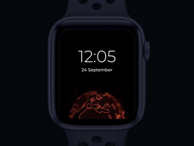 Watch Os globe animation location watch os time map wearable ios smartwatch smart watch apple watch app