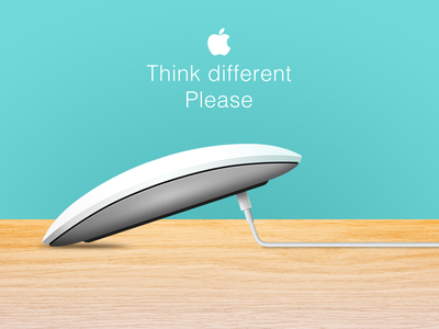 Think different vol.1 lightning 2 mouse magic design apple