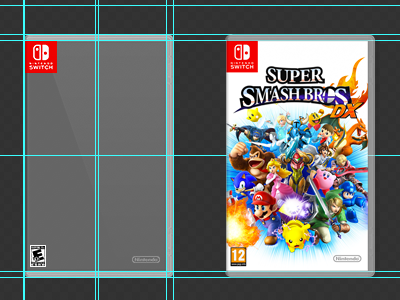 Free - PSD - Nintendo Switch Game Box Generator   game box cover switch nintendo mockup free psd