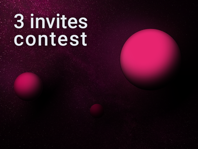 3 invites contest dribbble contest invites invite
