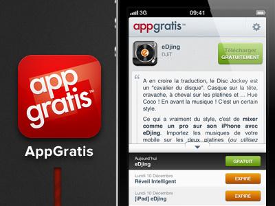 AppGratis Identity infographic dataviz edjing app gratis
