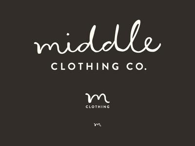The Middle Clothing Co logo design branding logo