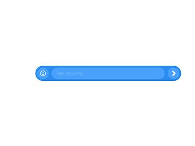 message composer web blue bar minimal chat message