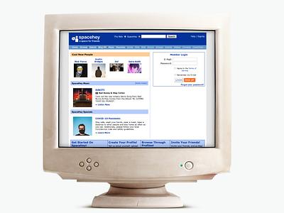 SpaceHey screenshot retro computer mockup spacehey myspace