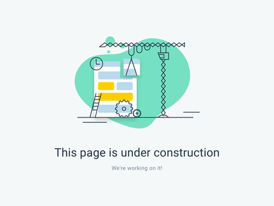 Page is under construction design illustration